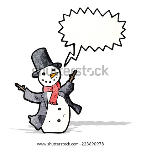 cartoon dancing snowman
