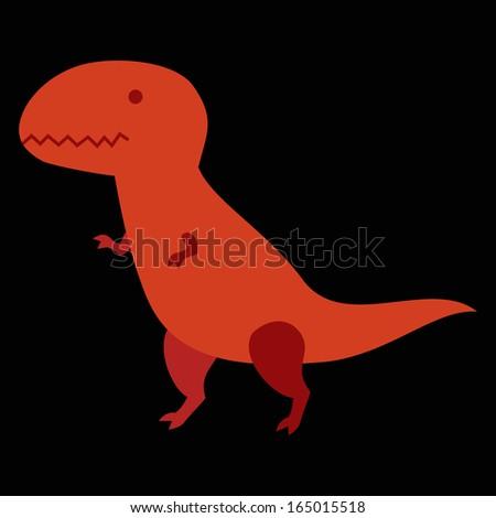 Cartoon dinosaur isolated vector character. - stock vector