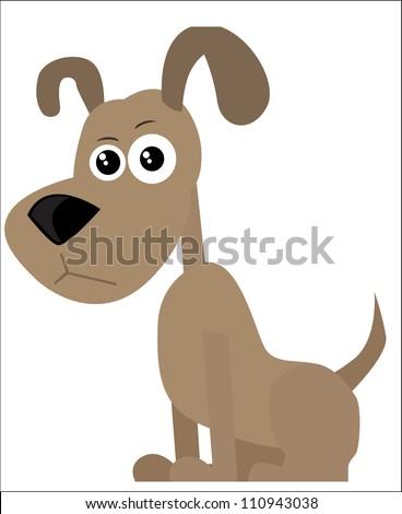 Cartoon dog - stock vector