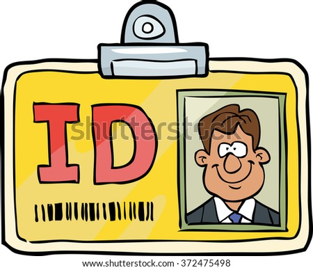Cartoon doodle id identification card vector illustration