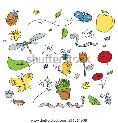 Stock images similar to id 99040499 garden set symbols for Gardening tools cartoon