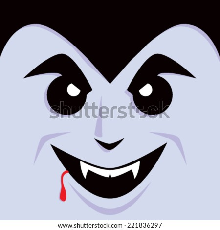 Cartoon Dracula Face
