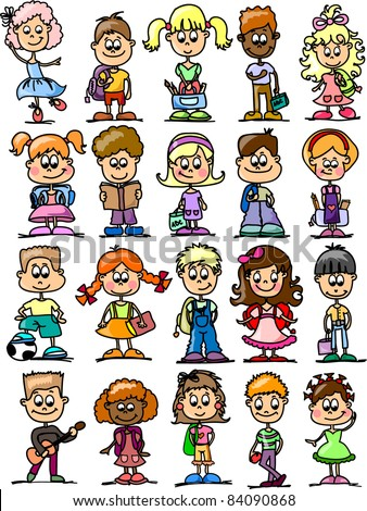 cartoon drawings of children students - Cartoon Drawings Of Children