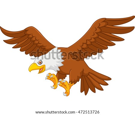 Cartoon Eagle Flying Stock Vector (Royalty Free) 472513726 ...  Baby