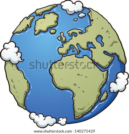 cartoon earth vector clip art illustration stock vector 140275429 rh shutterstock com Planet Earth Clip Art Happy Cartoon Earth Clip Art