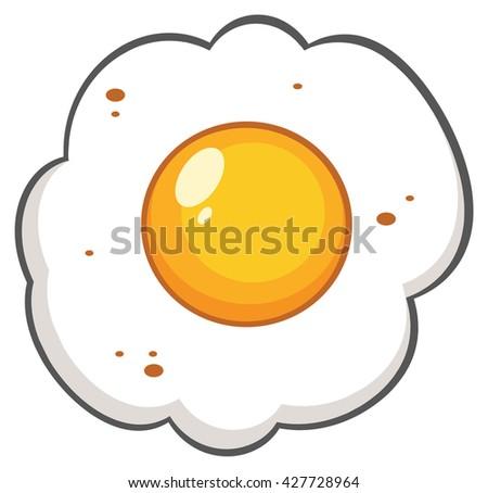 Cartoon Egg. Vector Illustration Isolated On White Background - stock vector