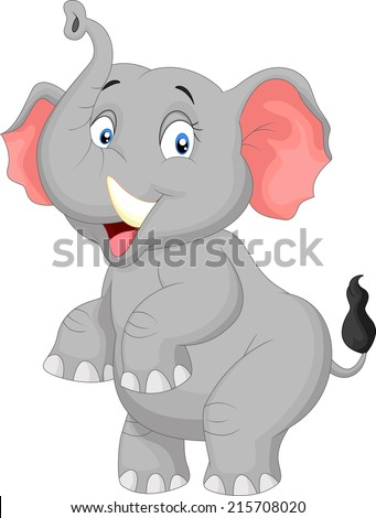 Cartoon elephant - stock vector