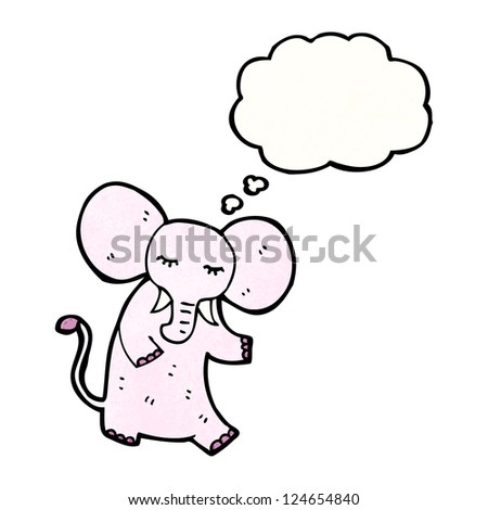 cartoon elephant with thought bubble