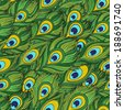 Cartoon ethnic vector Feathers seamless pattern - stock vector