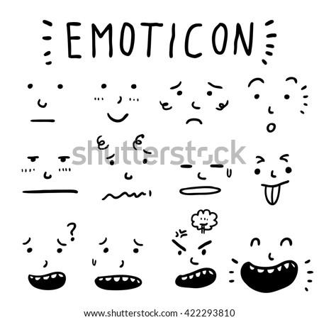cartoon expression set - stock vector