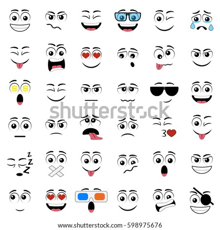 how to draw cartoon eyes with different expressions