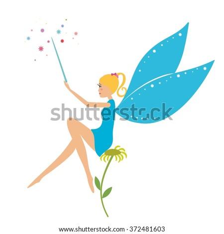 Cartoon Fairy Magic Wand Sitting On Stock Vector HD (Royalty Free ...