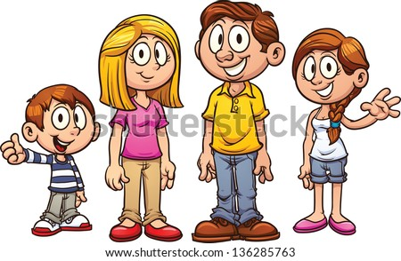 Cartoon Family Stock Images, Royalty-Free Images & Vectors ...