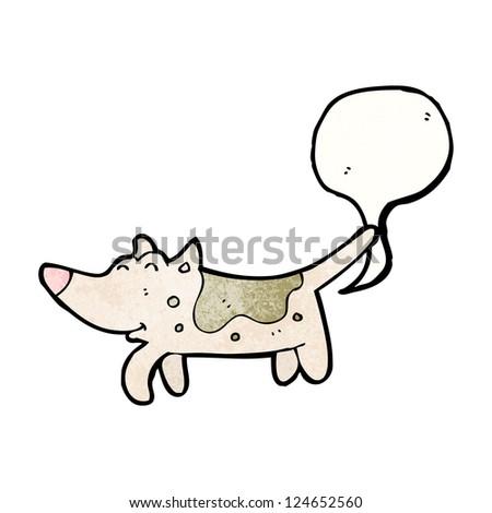 cartoon farting dog - stock vector