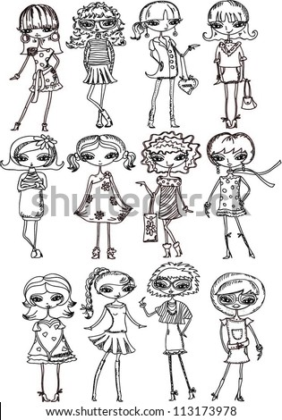 Adult Vector Coloring Book Pupil School Stock Vector