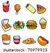cartoon fast food icon - stock photo