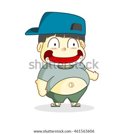 cartoon fat people vector stock vector 461563606 shutterstock rh shutterstock com Cartoon Fat Lady A Little Fat Cartoon People