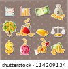 cartoon Finance & Money stickers - stock vector