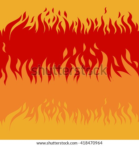 Cartoon fire background pattern - stock vector