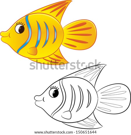Xray fish stock vector 574317205 shutterstock for Colorful fish book