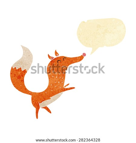 cartoon fox - stock vector