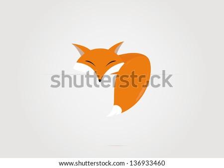Cartoon fox. Vector illustration - stock vector