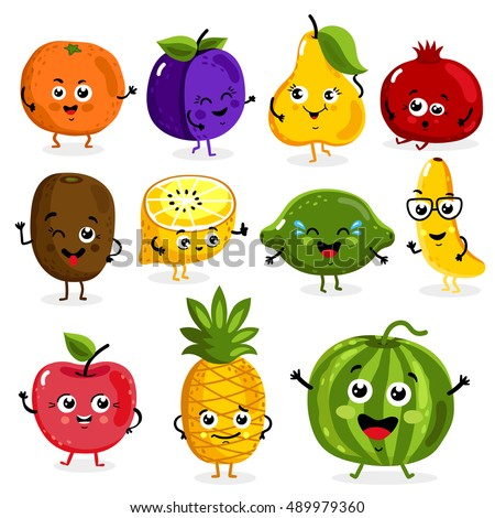 funny fruit pictures cartoon