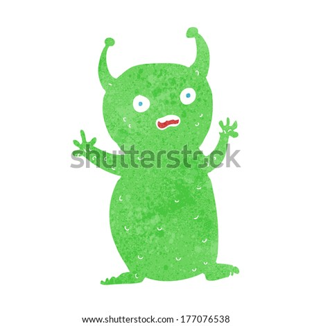 cartoon funny little alien