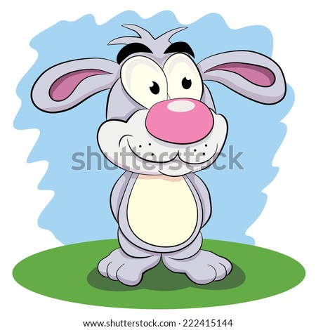 Cartoon funny rabbit.