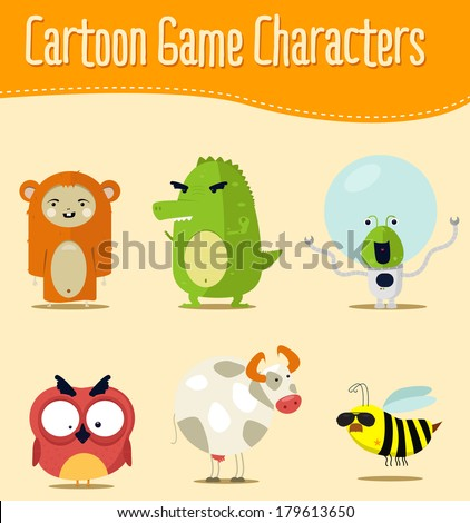 Cartoon game characters
