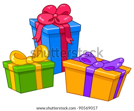 Gift box cartoon stock images royalty free images vectors cartoon gifts all are on separate layers negle Gallery