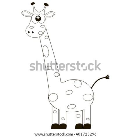 Cartoon Giraffe Coloring Book Stock Vector 401723296 - Shutterstock