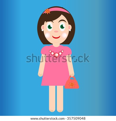 Cartoon girl character