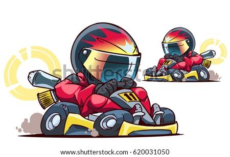 bilder kart Cartoon Go Kart Racer Stock Vektorgrafik 620031050 – Shutterstock bilder kart