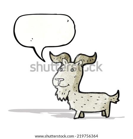 cartoon goat - stock vector