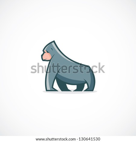 Gorilla Face Cartoon Cartoon Gorilla Vector