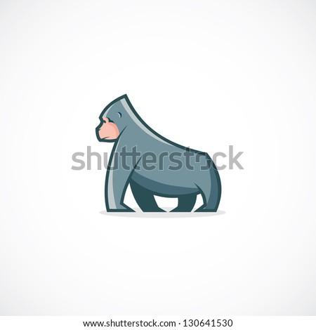 Gorilla Face Cartoon Cartoon Gorilla Vector