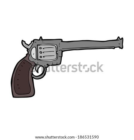 cartoon gun - stock vector