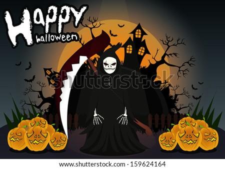 Cartoon halloween - stock vector