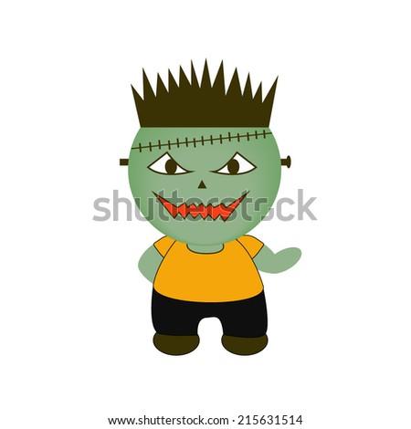 Cartoon Halloween Monster. Horror - stock vector