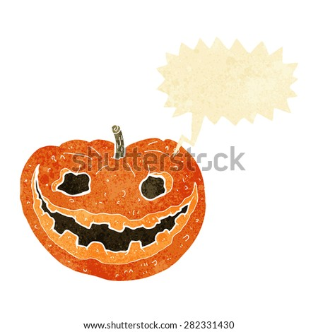 cartoon halloween pumpkin - stock vector