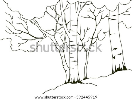 cartoon hand drawn nature illustration four stock vector 392445919 shutterstock