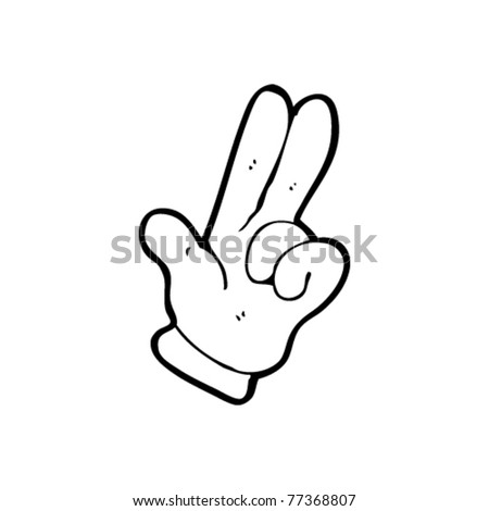 cartoon hand two fingers