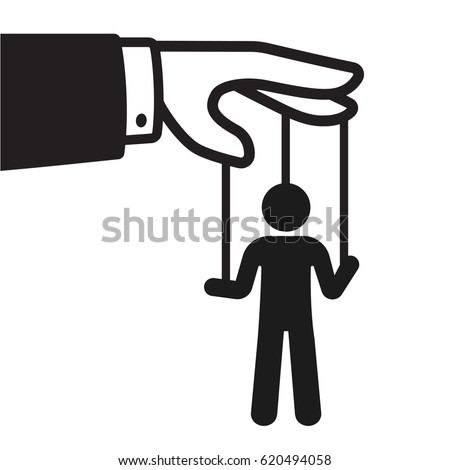 Puppeteer hands silhouette