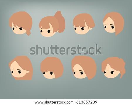 cartoon heads vector stock vector royalty free 613857209