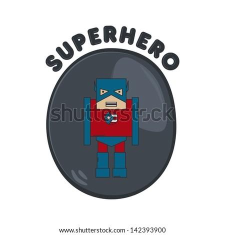 cartoon hero america guy - stock vector