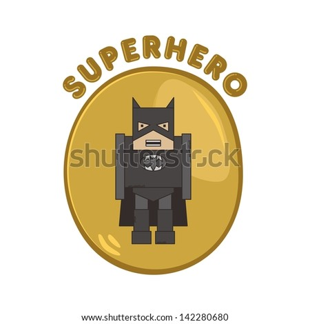 cartoon hero night man - stock vector