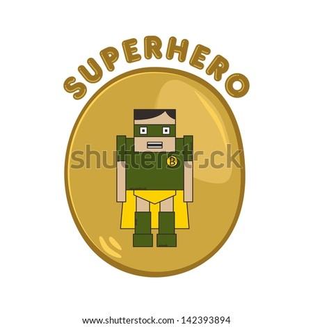 cartoon hero partner warrior - stock vector