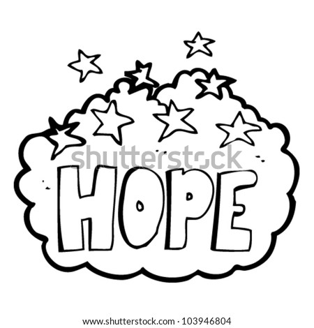 cartoon hope sign