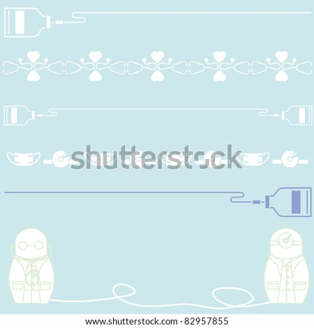 cartoon hospital - stock vector